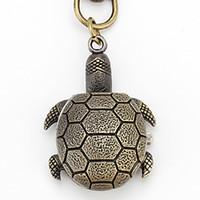 Wholesale Factory direct supply popular fashion element Unisex Alloy Analog Quartz Keychain Watch with Tortoise Bronze
