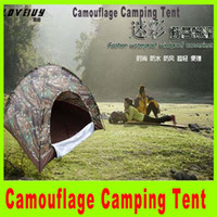 Wholesale 2014 NEW persons Travel Camouflage camping tent Outdoor fashion Portable Waterproof Tent rain tents top quality Christmas gift A249H