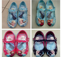 Wholesale 2014 hottest frozen shoes ballet flats made of nylon oxford colors for little girls very nice gift for birthday