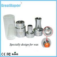 Replaceable Glass Gax Hot selling gax atomizer usage for wax dry herb vaporizer glass atomizer with goods quality