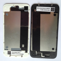 Wholesale Back Glass Battery Housing Door Back Cover Replacement Part for iphone4 G S Free DHL
