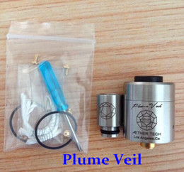 Wholesale Top selling e cigarette rebuildable atomizer plume veril RBA RDA atomizer stainless steel plume veil clearomizer with airflow control valves