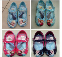 Wholesale 2014 Frozen Printed Hot Children Casual Shoes Child Dress Flat Shoes Classical Girls Shoes