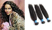 Brazilian Hair Curly  3pcs lot Clearance Sale!! 6A Curly Virgin Brazilian Peruvian Indian Malaysian Human Hair Extensions Kinky Weave Can Returns