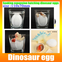 Wholesale NEW x7CM Very Large Watercolor Cracks Grow Expansion Egg Water Hatching Inflation Dinosaur Egg Educational Toys DHL Free