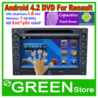 Wholesale 2014 New Android Car DVD Video Player For Renault Megane Capacitive Touch Screen Built in Wifi OBD2 MP3 GPS