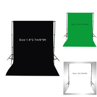 Wholesale New m ft Photography Screen Backdrop Muslin Cotton Video Photo Lighting Studio Background Green White Black