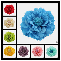 Barrettes Cloth Floral Bohemia Flower Children's Hair Accessories Girls Flower Hair Clips 24 Colors Handmade Kids Barrettes Jewelry 2014 Fashion Flowers Brooches
