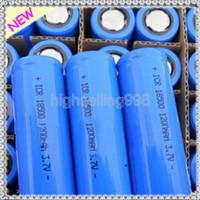 Wholesale 18500 Li ion Rechargeable Battery V mAh mAh for Electronic Cigarette LED Torch Flashlight Digital Camera Battery