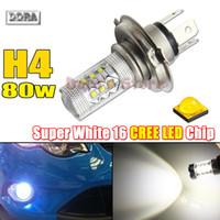 Wholesale 2PCS New Max H4 W CREE Q5 Type Bulbs For LED Front Daytime Running Fog Lamp DRL Replacement