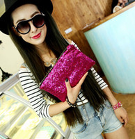 Wholesale Women Lady Sparkling Bling Sequins Beads Clutch bag Purse Wedding Evening Party Handbag Dazzling Glitter wallet makeup bags tote colorful