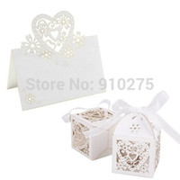 Wedding Event & Party Supplies,Other Festive & P Yes 100pcs lot Laser Cut Love Heart Wedding Table Place Cards Numbers + Candy Favor Gift Boxes Wedding Birthday Party Decoration