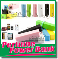 Wholesale Full mAh Power Bank Perfume Portable External Battery Charger Rechargerable Emergency External Battery For S4 S5 iphone5 in Retail Box