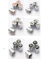 Wholesale car styling Metal Wheel Tire Valve Caps Stem Air For mitsubishi subaru Toyota NISSAN Ford KIA VW