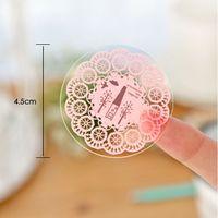 Wholesale South Korea stickers romantic bud silk printing love knot DIY manual sealing paste DIY stickers put marks