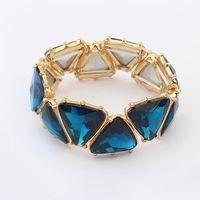 big wholesale - elastic luxury style big gem bracelet