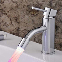 Cheap New Bathroom Faucets LED basin mixer tap sink high quality chrome brass material