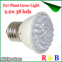 Wholesale 5pcs E27 RED and BLUE LEDs Hydroponic green house flower garden Light LED Plant Grow Growth Light Bulb Lamp Allfivestars