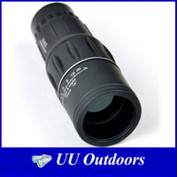 Cheap Wholesale-2014 Hot Generation Dual Focus Monocular Telescope Hunting Concert Spotting Scope with Green Film 16x52 Zoom In 66M 8000M Field