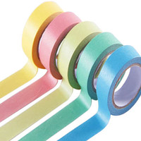 Wholesale Length m Single Sided Adhesive Tape Different Candy Color Washi Paper Stickers Office Supplies