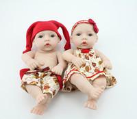 "Cheap Wholesale-OP-12"" Reborn boy reborn girl soft full vinyl reborn baby dolls lifelike handmade reborn babies newborn mini baby toys"