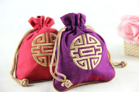 Cheap Chinese style embroidery purse jewelry small drawstring bag beam port kit features a small gift each child abroad