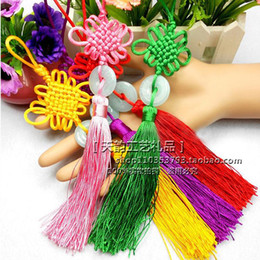 Wholesale Host families abroad to send gifts handmade jade traditional Chinese characteristics Chinese knot pendant tassels hanging Variety Pack