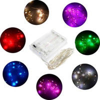 dc - 2M M M Party Xmas led Battery Power Operated LEDs copper wire with silver color String Light Lamp