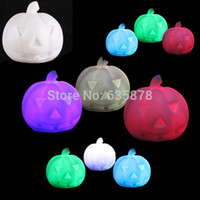 Wholesale New color cute Lamps Changing LED Pumpkin Night Light Lamp Holiday Party Supply FreeShipping