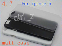 apple source - DIY Matt Case Newest Clear Plastic Source Material Back Cover Cases For Iphone air IPHONE6 inch black white clear