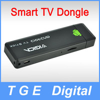 Wholesale Vigica TD200 Dual Core Quad GPU Android HDMI Smart TV Dongle Stick GB RAM GB ROM with TF Card Slot and External Antenna