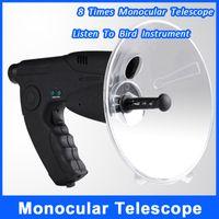 Wholesale 8 Times Monocular Telescope Bionic Ear Bird Watching Instrument Meters Sound Distance Quality Headphone Listen To Bird Instrument
