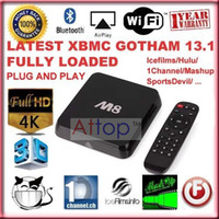 Wholesale M8 Amlogic S802 Quad Core Cortex A9 GHz Bluetooth G G Dual Wifi Kodi Streaming Player K HDMI Android KitKat OS IPTV Box pc