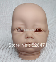 """Cheap Wholesale-OP-Reborn Baby doll kits very soft Silicone Vinyl head 3 4 arms legs for 20-22"""" lifelike dolls kit Sadie Free shipping"""