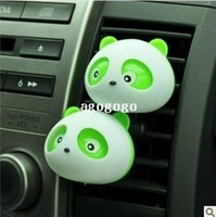 Precio de Car air freshener-Al por mayor 10 PC / porción Envío libre panda lindo del ambientador de aire del difusor de perfume para el coche auto titular perfume #SSS
