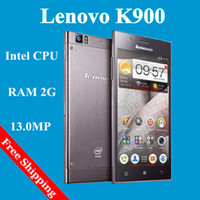 WCDMA/GSM850/GSM900/GSM1800/GSM1900 Dual Core Android NEW Original Lenovo K900 Phone Android Dual core Intel 2GHz CPU RAM 2GB ROM 16GB 5.5 inch 1920*1080pixel 13.0MP 3G WCDMA Wifi