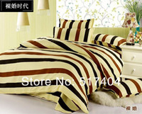 Cheap Discount !! lower price high quality 4pc quilted bedspreads,striped bed sheet cover,full queen size,Free Shipping
