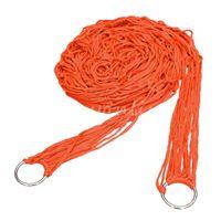 Cheap Portable High Quality Orange Nylon Breathable Hammock Hanging Mesh Net Sleeping Bed Swing Outdoor Camping Travel 270x80cm