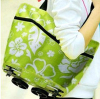 Cheap Wholesale-Free shipping 2013 New style Portable foldable trolley bag shopping bag casual bag