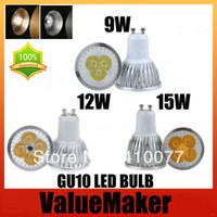 Wholesale 6XUltra Bright Cree Dimmable GU10 LED W W W Bulb GU10 Socket Lamp Spotlight CE RoHS AC DC85 V Warm Cool white