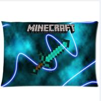 Wholesale Sandbox game Minecraft Sword printed design Custom Rectangle Pillow Case quot x24 quot quot x30 quot Minecraft
