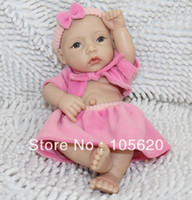 """Cheap Wholesale-OP-12"""" Reborn Baby girl Doll Cute Toys Silicone Desk Gifts with Clothes Children Favorate Learning Friends"""