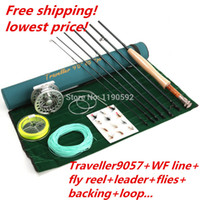 fly reel and rod - Fast Action carbon fiber fly rod ft wt pc ALC7 fly reel WF F fly line and fly accessory fly fishing combo
