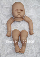 "Cheap Wholesale-OP-Free shipping 22"" Reborn Baby Doll Kit Silicone Vinyl baby Doll Kit soft Head 3 4 Arms Full Legs reborn baby Kits"