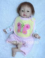 Cheap Wholesale-OP-2013 New Reborn Baby girl Lifelike Reborn Baby Girl Doll &TOP QUALITY chiildren dolls toys for girls