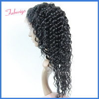 Cheap Cheap Indian Remy Hair Lace Front Wigs #1 Deep Wave 6-20inch Human Wavy Hair glueless Wholesale Wig Beauty and Healthy Freestyle