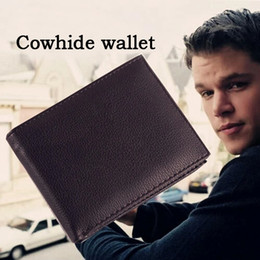 2015 fashion men's cowhide genuine leather cross wallet 3 fold short purse with coin pocket wallets for men free shipping