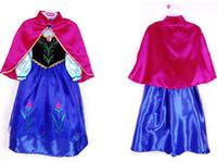 Wholesale New frozen girl dress vestidos de menina anna summer dress kids clothes kinds style elsa dress