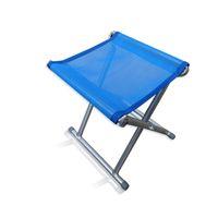 Wholesale Portable PVC Breathable Mesh High Intensity Steel Folding Stool Chairs Random Color