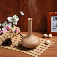 Wholesale Aromatherapy Air Humidifier Purifier Aroma Diffuser Mist nebulizer Night Light woodgrain Aroma Diffuser